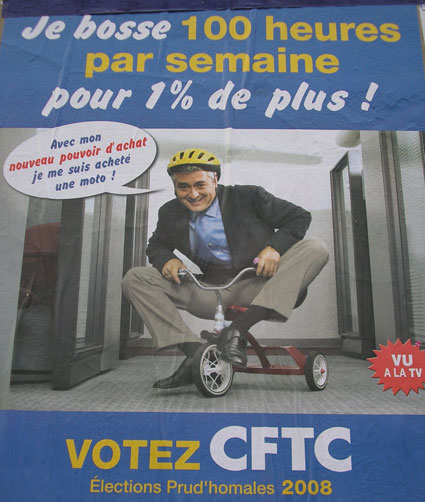 Affiche CFTC élection prud'homales