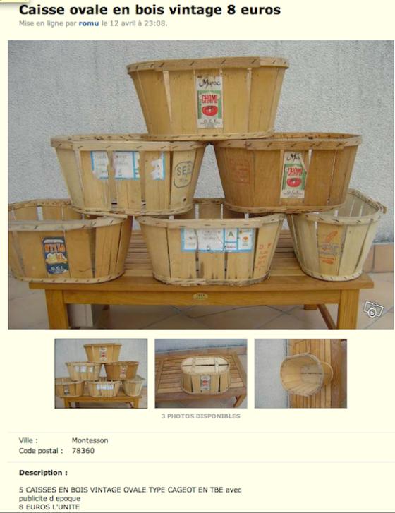 Cageots à vendre