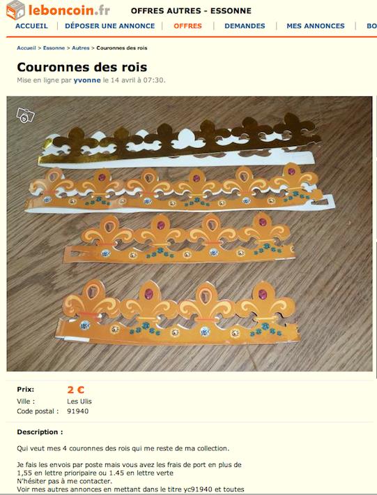 Couronnes à vendre